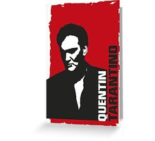 Quentin Tarantino (red edition) Greeting Card