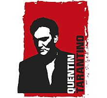 Quentin Tarantino (red edition) Photographic Print