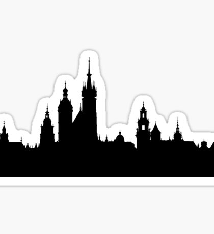 Krakow skyline Sticker