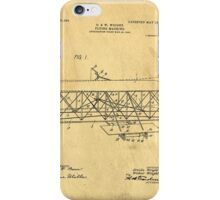 Original Patent for Wright Flying Machine 1906 iPhone Case/Skin