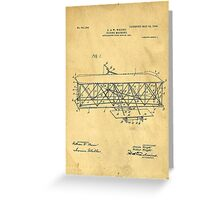 Original Patent for Wright Flying Machine 1906 Greeting Card