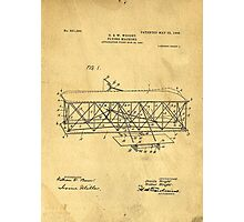 Original Patent for Wright Flying Machine 1906 Photographic Print