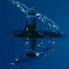 Blue Waterdrop Splash by Pixie Copley LRPS