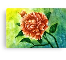 Rhododendrum, my first flower painting. Canvas Print