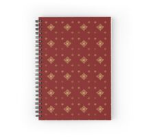 Gold Christmas Flower Spiral Notebook