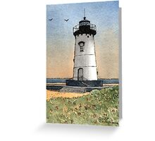Edgartown Lighthouse - A Watercolor Pen and Wash Greeting Card