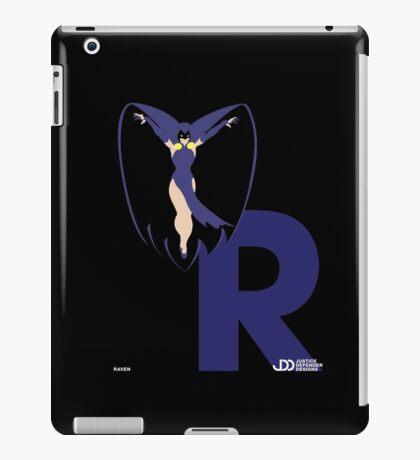 Raven - Superhero Minimalist Alphabet Clothing iPad Case/Skin