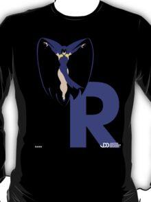 Raven - Superhero Minimalist Alphabet Clothing T-Shirt