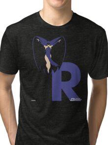 Raven - Superhero Minimalist Alphabet Clothing Tri-blend T-Shirt
