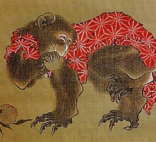 'Monkey' by Katsushika Hokusai (Reproduction) by Roz Abellera Art