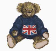 Brit Bear - Teddy with Union Jack Kids Tee