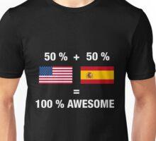 Half Spanish Half American 100% Spain Flag Unisex T-Shirt