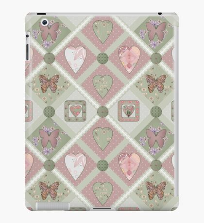 Patchwork pink squares seamless pattern texture background iPad Case/Skin