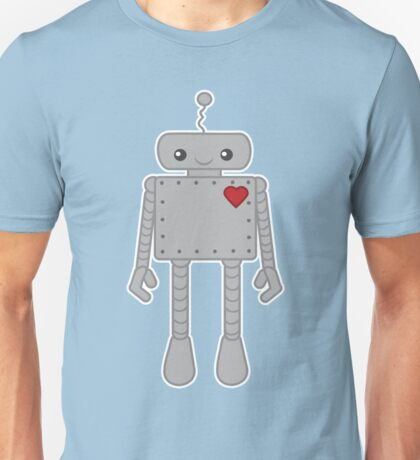 Cute Robot with Heart Unisex T-Shirt
