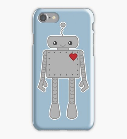 Cute Robot with Heart iPhone Case/Skin
