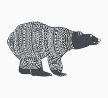Polar bear in a winter wooly jumper Christmas design Kids Tee