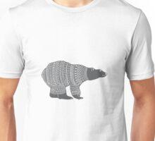 Polar bear in a winter wooly jumper Christmas design Unisex T-Shirt