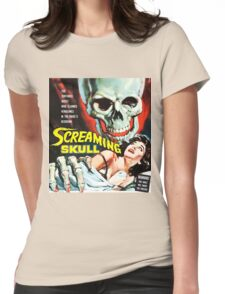 The Screaming Skull vintage movie poster Womens Fitted T-Shirt