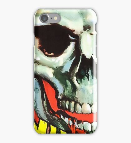 The Screaming Skull vintage movie poster iPhone Case/Skin