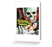 The Screaming Skull vintage movie poster Greeting Card