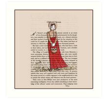 Jane Austen - Pride and Prejudice  Art Print