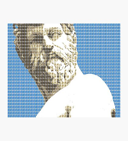 Greek Statue #1 - Blue Photographic Print
