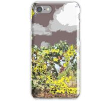 yellow on gray early sky  iPhone Case/Skin