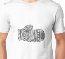 Wooly mitten glove Christmas winter design Unisex T-Shirt