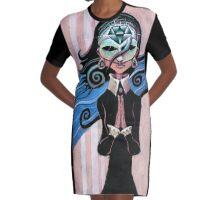 Diamond Graphic T-Shirt Dress