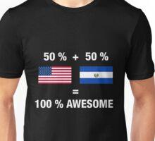 Salvadoran American Half El Salvador Half America Flag Unisex T-Shirt