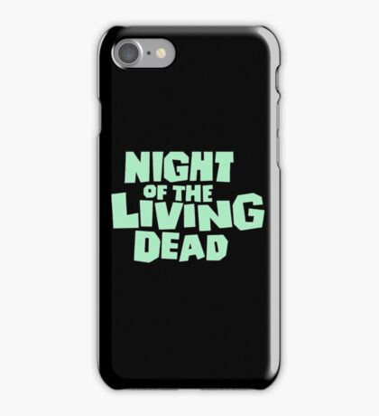 Night of the Living Dead logo iPhone Case/Skin