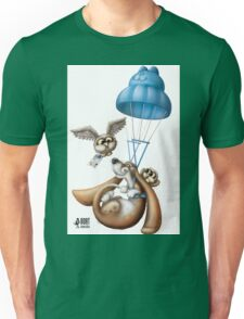 Flying basset Unisex T-Shirt