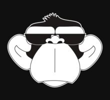 Monkey serious MIB monocromatic by rasgadow