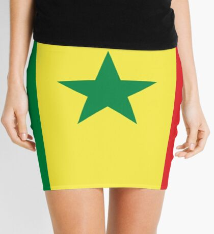Senegal Flag - Senegalese Sticker Duvet Mini Skirt