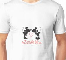 Mickey and minnie mouse cute quote Unisex T-Shirt