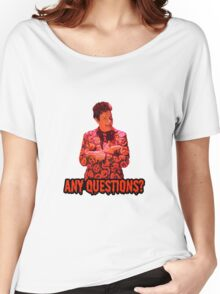 David S. Pumpkins - Any Questions? II Women's Relaxed Fit T-Shirt