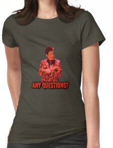 David S. Pumpkins - Any Questions? II Womens Fitted T-Shirt
