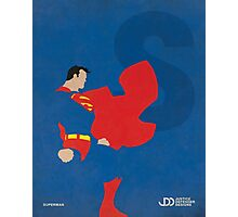 Superman - Superhero Minimalist Alphabet Print Art Photographic Print