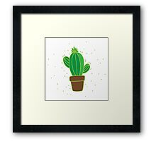 a little cactus Framed Print