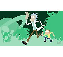Rick & Morty Runnin' Photographic Print