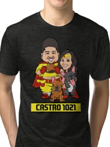 Vintage Castro and Family Baseball Tee Tri-blend T-Shirt