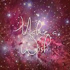 Make a Wish Vintage Instagram Nebula Galaxy Print by RexLambo