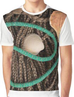 Seashell on netting Graphic T-Shirt