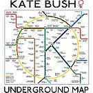 Kate Bush Underground Map by GaffaUK