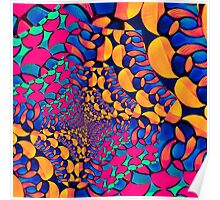 Psychedelic Abstract Twisted  Pattern  Poster