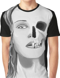 Face to Skull Graphic T-Shirt