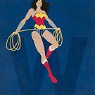 Wonder Woman - Superhero Minimalist Alphabet Print Art by justicedefender