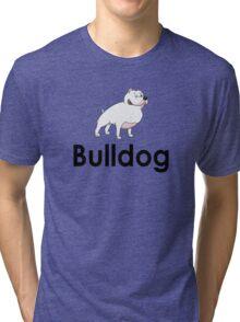 Bulldog Dog Owner Sticker Tri-blend T-Shirt