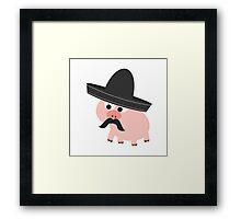 Cerdito Bandito Pig Framed Print