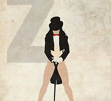 Zatanna - Superhero Minimalist Alphabet Print Art by justicedefender